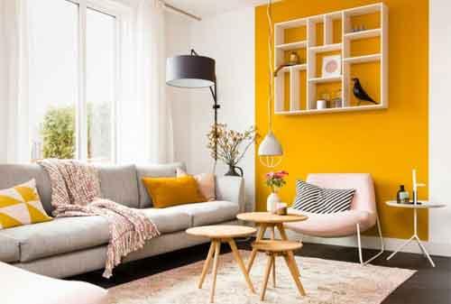 Kombinasi Warna Cat Rumah Kuning  perpaduan warna cat rumah minimalis paling populer dan digemari