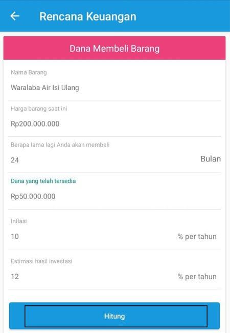 Rencana Keuangan Dana Membeli Barang Aplikasi Finansialku 1