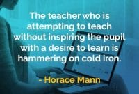 Kata-kata Bijak Horace Mann Guru yang Berusaha Mengajar - Finansialku