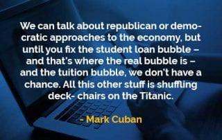 Kata-kata Bijak Mark Cuban Gelembung Pinjaman Pendidikan - Finansialku