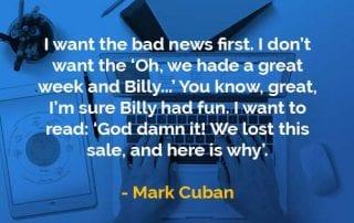 Kata-kata Bijak Mark Cuban Kabar Buruk Dulu - Finansialku