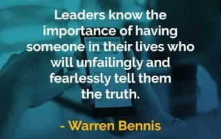 Kata-kata Bijak Warren Bennis Memiliki Seseorang Dalam Kehidupan - Finansialku