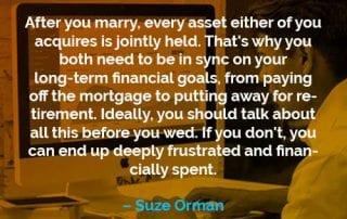 Kata-kata Motivasi Suze Orman Setelah Anda Menikah - Finansialku