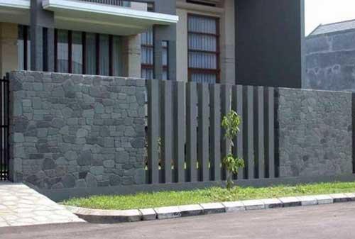 Pagar Rumah 04 (Model Pagar Batu Alam) - Finansialku